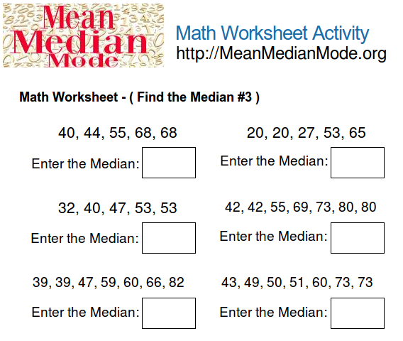 Find The Mean Worksheet Free Worksheets Library – Mean Mode Median Worksheet