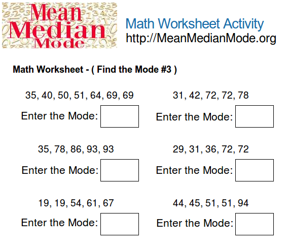 Printables Mode Worksheets mode worksheets abitlikethis math worksheet activity find the 3 mean median org